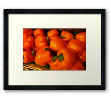 Peppers Plump and Pretty Framed Print