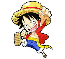 Chibi Luffy - One Piece Photographic Print