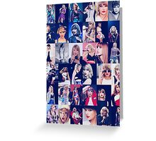Taylor Swift Collage Greeting Card