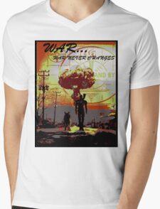 Vault dweller & Dogmeat Mens V-Neck T-Shirt