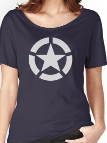 Allied Star (White) Women's Relaxed Fit T-Shirt