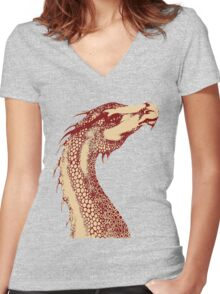 Petoskey Dragon Women's Fitted V-Neck T-Shirt