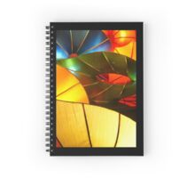 Colorful Vertical Abstract of Blue Green Yellow and Orange Spiral Notebook