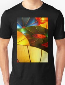 Colorful Vertical Abstract of Blue Green Yellow and Orange Unisex T-Shirt