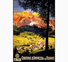 Cortina d Ampezzo Italy Vintage Poster Restored Unisex T-Shirt