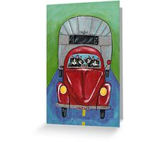 Cats Going Camping Greeting Card