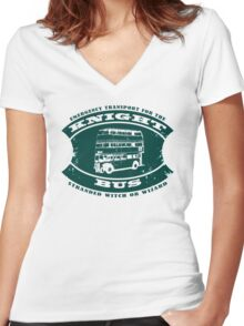 The Knight bus Women's Fitted V-Neck T-Shirt