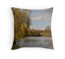 Willow on the Lake Throw Pillow