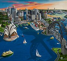 Sydney at dusk by Patrick Hawkins