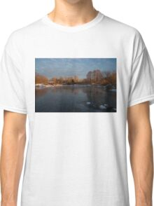 Icy Reflections With a Touch of Snow Classic T-Shirt