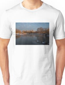 Icy Reflections With a Touch of Snow Unisex T-Shirt