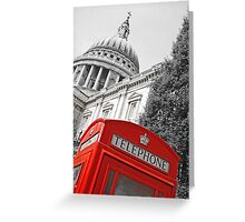 London phone box Greeting Card