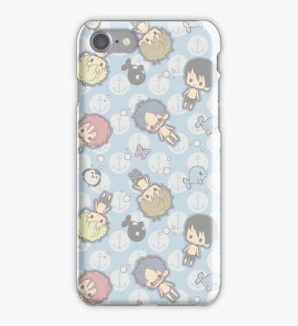 Free Iwatobi Swimming Chibi iPhone Case/Skin