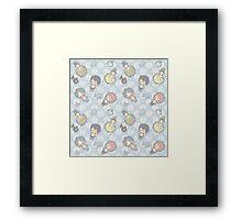 Free Iwatobi Swimming Chibi Framed Print