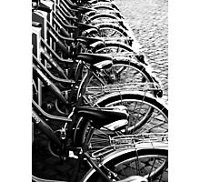 Black and White Bicycles Photographic Print