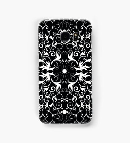 Black and White Abstract Pattern Samsung Galaxy Case/Skin