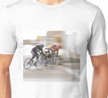 Cyclists Speeding into the Next Curve Unisex T-Shirt