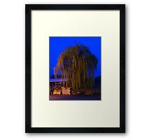 Earth Day Weeping Willow Framed Print
