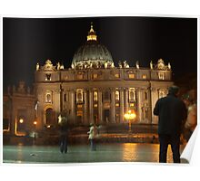 St Peter's Square at Night I Poster