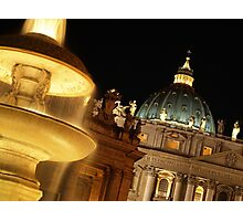St Peter's at Night Photographic Print