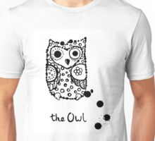 Funny sleeping crazy owl Unisex T-Shirt
