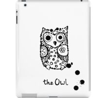 Funny sleeping crazy owl iPad Case/Skin