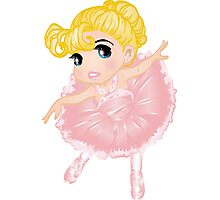 Cute Little Pink Vector Ballerina Photographic Print