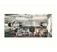 Below in the Engine Room... Art Print