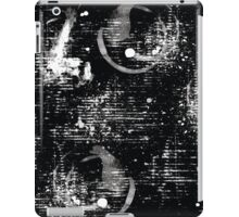 Black and White Abstract Pattern iPad Case/Skin