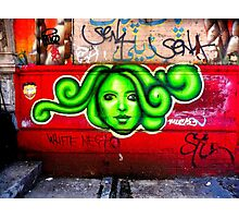 oh beautiful green medusa Photographic Print