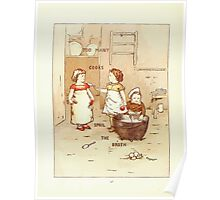 Old Proverbs with New Pictures Lizzie Laweson and Clara Mateaux 1881 0052 Too Many Cooks Spoil the Broth Poster