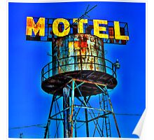 Avalon Motel Water Tank Sign Poster