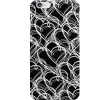 Black and White Vintage Heart Pattern iPhone Case/Skin