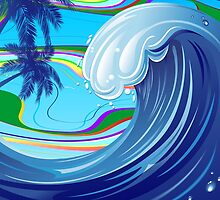 Sea Ocean big Wave Water  by BluedarkArt