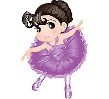 Cute Little Violet Vector Ballerina Photographic Print