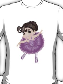 Cute Little Violet Vector Ballerina T-Shirt
