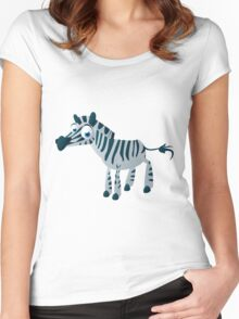 Cute goggle-eyed zebra Women's Fitted Scoop T-Shirt