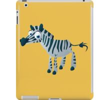 Cute goggle-eyed zebra iPad Case/Skin
