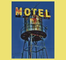 Avalon Motel Water Tank Sign T-Shirt by Robert Howington