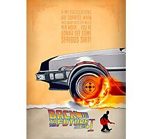 Back to the Future - Movie Poster Part 1 Photographic Print