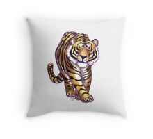 Animal Parade Tiger Silhouette Throw Pillow