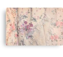 Pink Antique Blanket with Roses Canvas Print