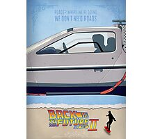 Back to the Future - Movie Poster Part 2 Photographic Print