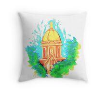 Golden Dome Throw Pillow
