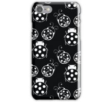 Black and White Bugs Pattern iPhone Case/Skin