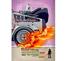 Back to the Future - Movie Poster Part 3 Photographic Print