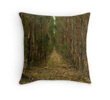 Eucalypt path... Throw Pillow