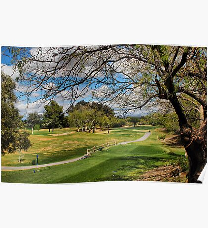 Golf Course View Poster