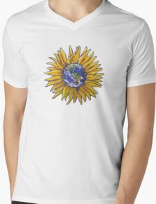 Sunflower Earth Mens V-Neck T-Shirt