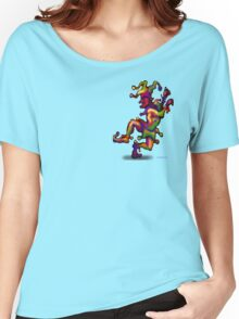 Mardi Gras Jester Pocket Tee Women's Relaxed Fit T-Shirt